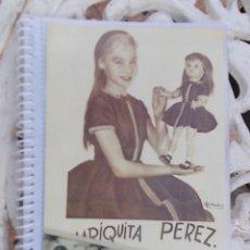 Muñeca Mariquita Pérez y Juanin: PRECIOSO ALBUM REGALO CON 14 LAMINAS DE REVISTA CON HISTORIA DE MARIQUITA PEREZ DESDE 1940 VER FOTOS. Lote 130116355