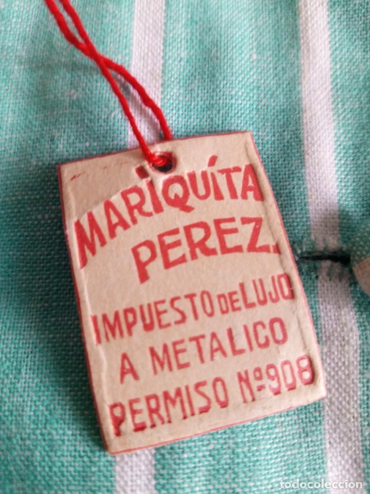 Muñeca Mariquita Pérez y Juanin: Antiguo vestido original mariquita perez conserva etiqueta tela y etiqueta carton (muy dificil) - Foto 10 - 143567182