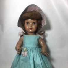 Puppe Mariquita Pérez und Juanin - EXCELENTE MUÑECA ORIGINAL MARIQUITA PEREZ AÑOS 40, EN CARTON ,PIEDRA, OJOS, PELUCA Y ROPAS ORIGINAL - 143813434