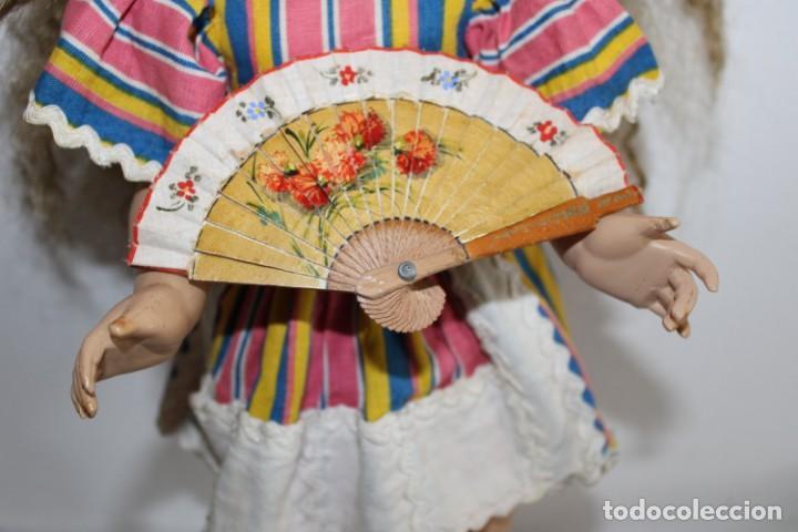 Muñeca Mariquita Pérez y Juanin: Hermosa muñeca Mariquita Pérez delgada, con abanico y bolsa de viaje - Foto 35 - 202345831