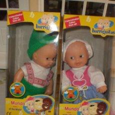 Muñecas Lesly y Barriguitas: BARRIGUITAS DEL MUNDO - PAREJA DEL TIROL. Lote 29596041