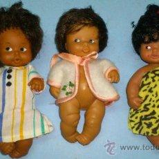 Muñecas Lesly y Barriguitas: BARRIGUITAS. 3 BARRIGUITAS NEGRITAS .... Lote 115478944