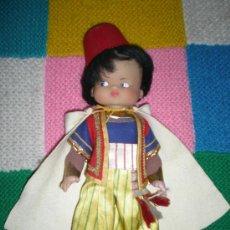 Muñecas Lesly y Barriguitas: ANTIGUO MUÑECO MORITO FABRICADO EN ALCOY CHINARRO EN LOS AÑOS 70 MUY BUEN ESTADO. Lote 28932197
