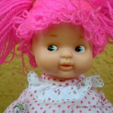 Muñecas Lesly y Barriguitas: MUÑECA BARRIGUITAS CUERPO DE TELA Y PELO DE LANA ROSA. Lote 38241252