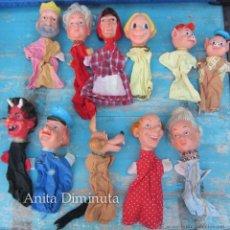 Muñecas Lesly y Barriguitas: PRECIOSAS MARIONETAS DE GUIÑOL DE FAMOSA - AÑOS 70 - TIENEN SUS VESTIDOS ORIGINALES - LAS CABEZAS S. Lote 42820245