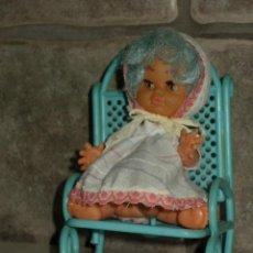 Muñecas Lesly y Barriguitas: ANTIGUA MUÑECA MAJBER CON MECEDORA , SIMILAR A BARRIGUITAS.. Lote 44822430