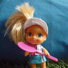 Muñecas Lesly y Barriguitas: MUÑECA BARRIGUITAS MODERNA - TENISTA - TENIS - SIN USAR. Lote 51646666