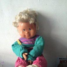 Muñecas Lesly y Barriguitas: MUÑECO DE TRAPO Y PLÁSTICO TIPO PENIQUE 50 CM . Lote 53772983