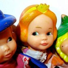 Muñecas Lesly y Barriguitas: MARIONETAS FAMOSA · PRINCESA, PRÍNCIPE Y ENANO. Lote 54274353
