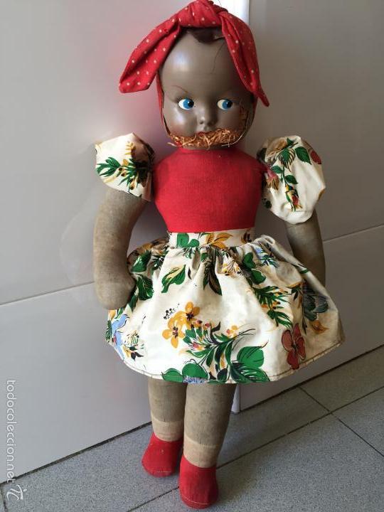 Muñecas Lesly y Barriguitas: Muñeca Antigua. Mide 48cm, CELULOIDE TRAPO - Foto 7 - 56331920