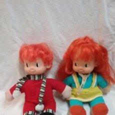 Muñecas Lesly y Barriguitas: PAREJA DE MUÑECAS PIPO Y PIPA DE FAMOSA AÑOS 70. Lote 58138426