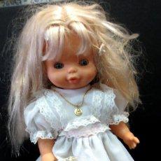Muñecas Lesly y Barriguitas: MUÑECA HELEN PRIMERA COMUNIÓN CON MINISON FAMOSA. Lote 58994455