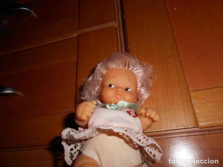 Muñecas Lesly y Barriguitas: BARRIGUITAS PELO ROSA CON BLUSA LAZO DE FAMOSA AÑOS 70 B.E. - Foto 4 - 63700123