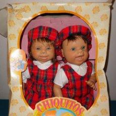 Muñecas Lesly y Barriguitas: FAMOSA - PAREJITA CHIQUITITOS MARAVILLOSOS DE FAMOSA , AÑO 1995 VER FOTOS Y DESCRIPCION!! SBB. Lote 69954297