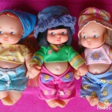 Muñecas Lesly y Barriguitas: 3 MUÑECAS BARRIGUITAS DE FAMOSA LAS NENAS. Lote 80472161