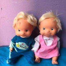 Muñecas Lesly y Barriguitas: PAREJA MALO Y MILA DE FAMOSA FUNCIONANDO . Lote 88198584