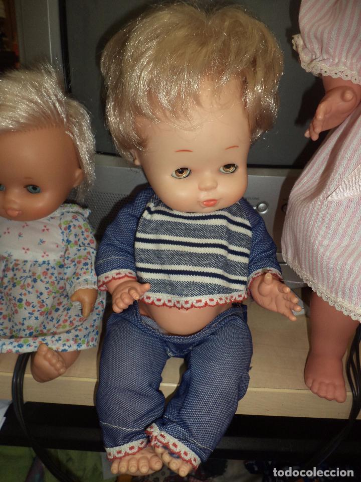 Muñecas Lesly y Barriguitas: Lote 3 antiguas muñecas de Famosa .Made in Spain. - Foto 3 - 92059305