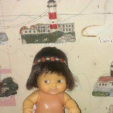 Muñecas Lesly y Barriguitas: BARRIGUITA INDIO CON CINTA ORIGINAL Y PAÑAL. Lote 100402139