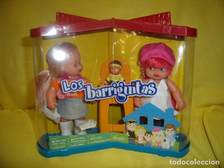 BARRIGUITAS FAMILIA, PAREJA DE FAMOSA, AÑO 2007, NUEVO. (Juguetes - Muñeca Española Moderna - Barriguitas)