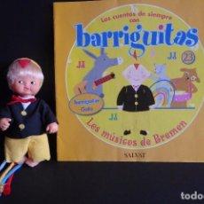 Muñecas Lesly y Barriguitas: BARRIGUITAS CUENTOS - LOS MÚSICOS DE BREMEN. Lote 102964759