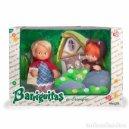 Muñecas Lesly y Barriguitas: BARRIGUITAS DE FAMOSA CAPERUCITA Y LOBO NUEVAS EN CAJA. Lote 165289541