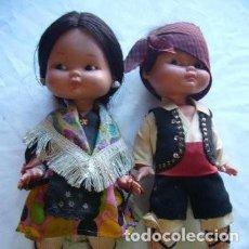 Muñecas Lesly y Barriguitas: PAREJA DE MUÑECOS FAMOSA TRAJE REGIONAL ARAGONES. Lote 112089147