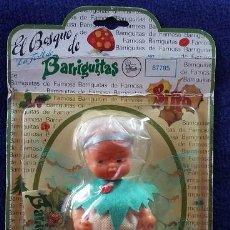 Muñecas Lesly y Barriguitas: BARRIGUITAS CON ALAS. SILFO DEL BOSQUE DE BARRIGUITAS AÑOS 80 EN BLISTER ORIGINAL CON CATÁLOGO. Lote 112172603