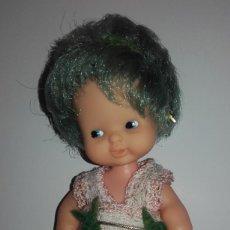 Muñecas Lesly y Barriguitas: MUÑECA BARRIGUITAS PELO VERDE DE FAMOSA. Lote 124403775