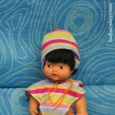 Muñecas Lesly y Barriguitas: BARRIGUITAS DEL MUNDO MORENA PERUANA CON PONCHO Y GORRO . Lote 126978343
