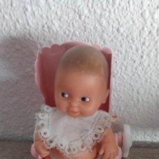 Muñecas Lesly y Barriguitas: MUÑECO BEBE PELON DE BARRIGUITAS CON SILLITA SILLA CARRO FAMOSA. Lote 127761359