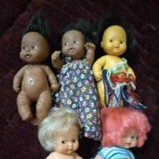 Muñecas Lesly y Barriguitas: LOTE DE BARRIGUITAS DOS NEGRITAS. Lote 128116071