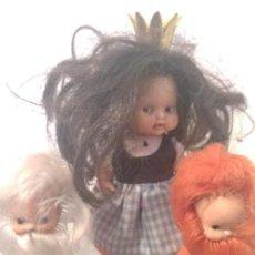 Muñecas Lesly y Barriguitas: BLANCANIEVES BARRIGUITAS MÁS 2 ENANITOS. Lote 130599634