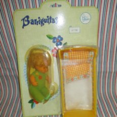 Muñecas Lesly y Barriguitas: ANTIGUO Y DIFICIL BLISTER BARRIGUITAS CON CUNA, AÑOS 70. Lote 131661838
