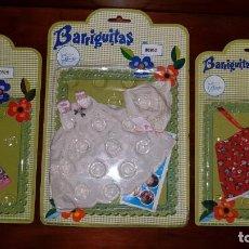 Muñecas Lesly y Barriguitas: LOTE 3 VESTIDOS BARRIGUITAS NUEVOS EN BLISTER. Lote 132836714