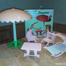 Muñecas Lesly y Barriguitas: BARRIGUITAS JUEGO PLAYA EN ROSA, COMPLETO, . Lote 141588142