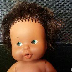 Muñecas Lesly y Barriguitas: MUÑECA BARRIGUITA NEGRA NEGRITA MULATA BESITOS ANTIGUA. Lote 141901416