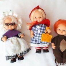Muñecas Lesly y Barriguitas: BARRIGUITAS CAPERUCITA ABUELITA Y EL LOBO. Lote 142717534