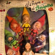 Muñecas Lesly y Barriguitas: BARRIGUITAS BLANCANIEVES Y LOS SIETE ENANITOS. EL BOSQUE DE BARRIGUITAS. Lote 144866538