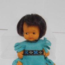 Muñecas Lesly y Barriguitas: MUÑECA BARRIGUITAS, INDIO CON VESTIDO AZUL, ORIGINAL FAMOSA. Lote 145258222