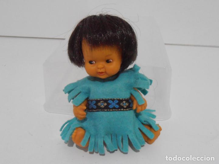 Muñecas Lesly y Barriguitas: MUÑECA BARRIGUITAS, INDIO CON VESTIDO AZUL, ORIGINAL FAMOSA - Foto 4 - 145258222