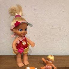 Muñecas Lesly y Barriguitas: MUÑECA BARRIGUITAS BAÑISTA/PLAYA Y COMPLEMENTOS: BEBÉ BARRIGUITAS, PERRO, SALVAVIDAS. Lote 147901808
