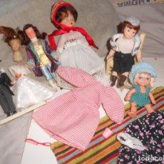 Muñecas Lesly y Barriguitas: LOTE MUÑECAS CELULOIDE, FAMOSA, PORCELANA, RETALES..VARIAS DÉCADAS +EXTRAS, OCASIÓN. Lote 150816610