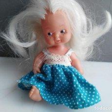 Muñecas Lesly y Barriguitas: ANTIGUA BARRIGUITAS DE FAMOSA CON VESTIDITO AZUL ORIGINAL BARRIGUITAS. Lote 158406366