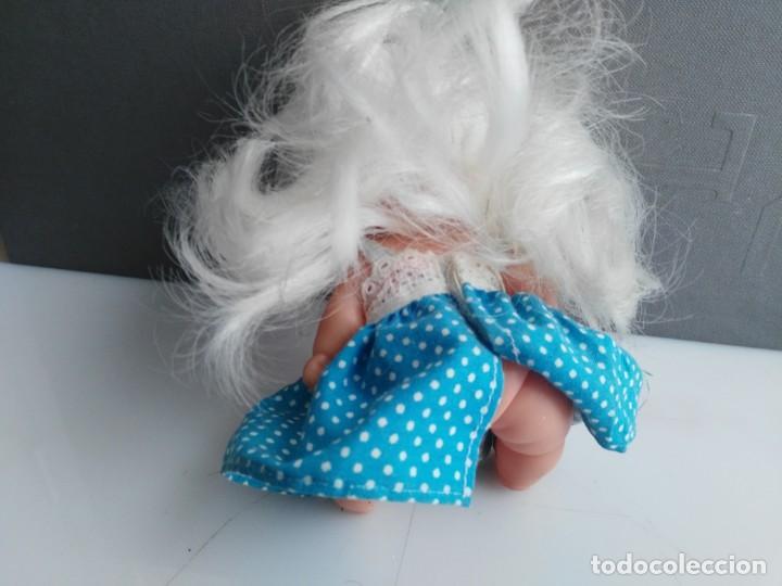 Muñecas Lesly y Barriguitas: ANTIGUA BARRIGUITAS DE FAMOSA con vestidito azul original barriguitas - Foto 3 - 158406366