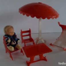 Muñecas Lesly y Barriguitas: BARRIGUITAS PLAYERO Y CONJUNTO DE PLAYA. Lote 158567866