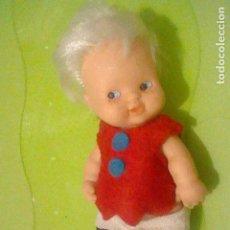 Puppen Lesly und Barriguitas - BARRIGUITAS 10 PECAS MARRONES OJOS AZULES FAMOSA 97 VESTIDO SIN ETIQUETA CREO SERIE CUENTOS - 160510814
