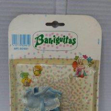 Muñecas Lesly y Barriguitas: BARRIGUITAS VESTIDO. NUEVO EN BLISTER. REF 80981. FAMOSA. 1988. ROPA.. Lote 160543964