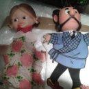 Muñecas Lesly y Barriguitas: LOTE MUÑECAS MARIONETAS DE FAMOSA. AÑOS 70. DON PANTUFLO ZIPI Y PAPE ESCOBAR .BIEN CONSERVADAS. PVC. Lote 43188263