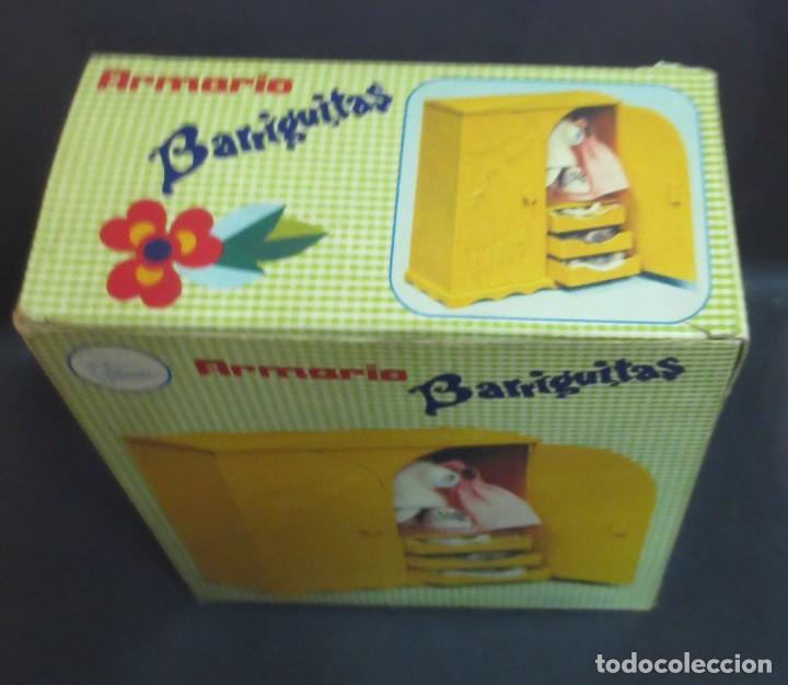 Muñecas Lesly y Barriguitas: ARMARIO BARRIGUITAS AÑOS 70 ORIGINAL CON CAJA REF. 80993 CON 6 PERCHAS - Foto 6 - 165227054