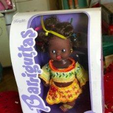 Muñecas Lesly y Barriguitas: BARRIGUITAS REEDICIÓN AFRICANA NEGRITA EN CAJA NUEVA FAMOSA EPOCA NANCY. Lote 166031442